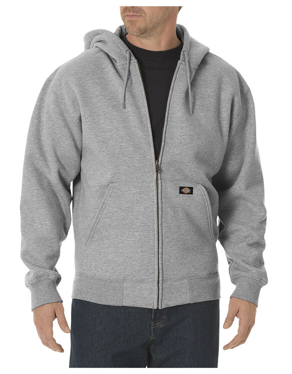 Heavyweight Fleece Full Zip Hoodie - HEATHER GRAY (HG)