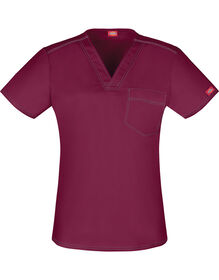 Unisex Gen Flex V-Neck Scrub Top - WINE-LICENSEE (WIN)