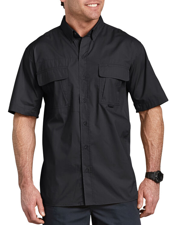 Tactical Ventilated Ripstop Short Sleeve Shirt - BLACK (BK)