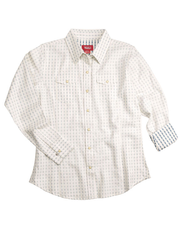 Walls® Women's Dobby Squares Shirt - PRINT (PT9)