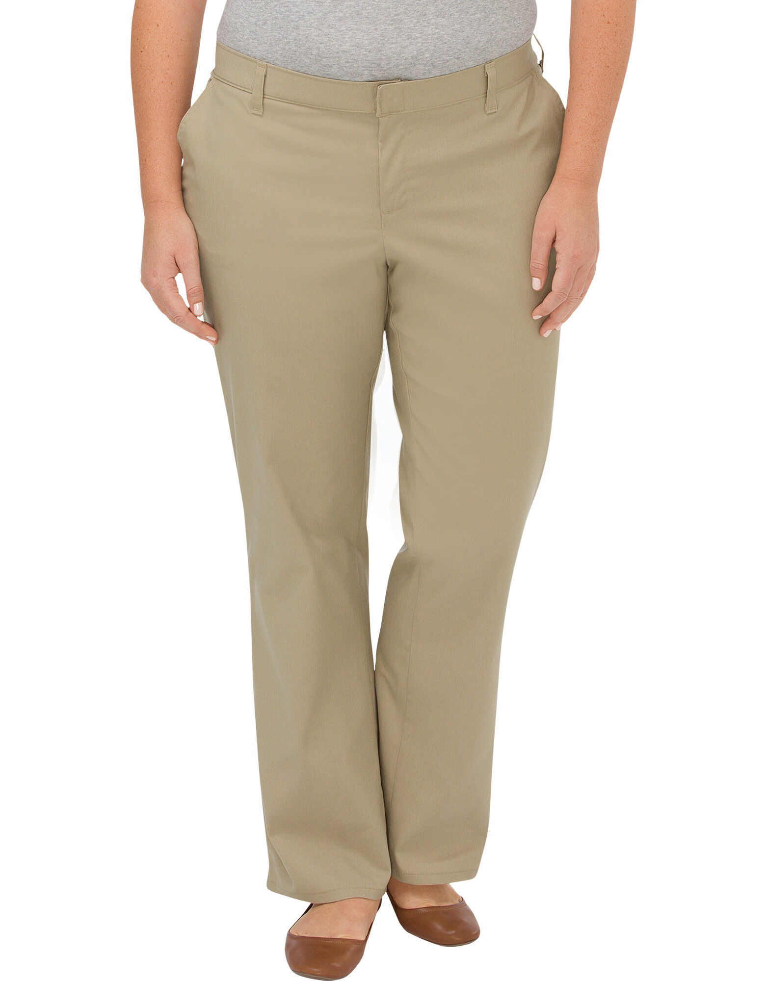 Women S Premium Relaxed Straight Flat Front Pant Plus
