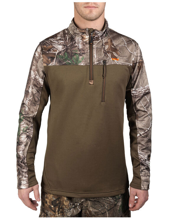 Walls® Hunt Fleece Lifestyle 1/4 Zip Pullover - REAL TREE XTRA (AX9)