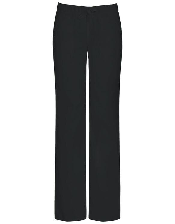 Women's EDS Signature Low-Rise Straight Leg Drawstring Scrub Pant with Certainty® - BLACK (BLK)