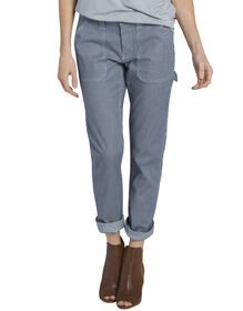 Women's Heritage Destroyed Hickory Stripe Carpenter Pant - DESTROYED HICKORY STRIPE (DHS)