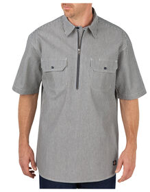 Short Sleeve Half Zip Logger Shirt - HICKORY STRIPE (HS)
