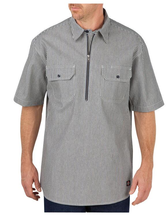Short Sleeve Half Zip Logger Shirt - HICKORY STRIPE (HS)