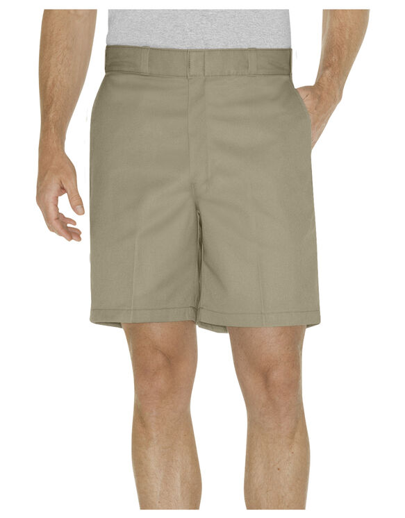 "8"" Relaxed Fit Traditional Flat Front Short - KHAKI (KH)"