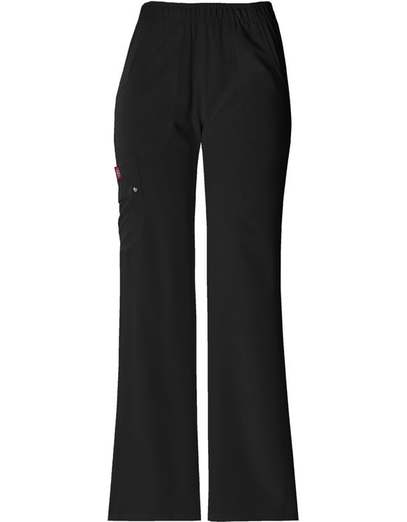Women's Xtreme Stretch Elastic Waist Scrub Pant - BLACK-LICENSEE (BLK)