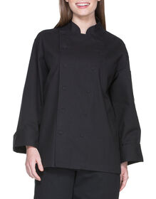 Unisex Executive Chef Coat with Fluid Barrier - BLACK (BLK)