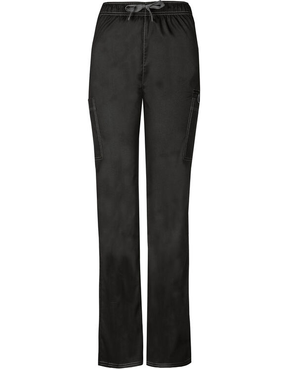 Unisex Gen Flex Natural Rise Drawstring Pant - BLACK-LICENSEE (BLK)
