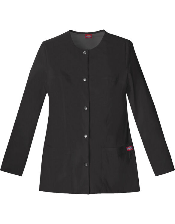 Women's Gen Flex Snap Front Warm-Up Jacket - BLACK-LICENSEE (BLK)