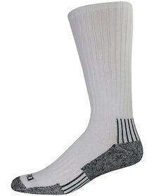 Industrial Heavyweight Cushion Work Boot Length Crew Socks, 3-Pack, Size 9-12 - WHITE (WH)