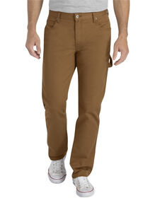 FLEX Slim Fit Tapered Leg Carpenter Pant - STONEWASHED BROWN DUCK (SBD)