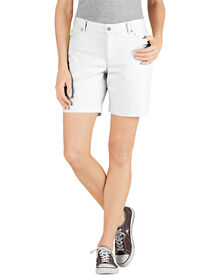 "Women's 7"" Relaxed Fit Stretch Canvas Short - RINSED WHITE (RWH)"
