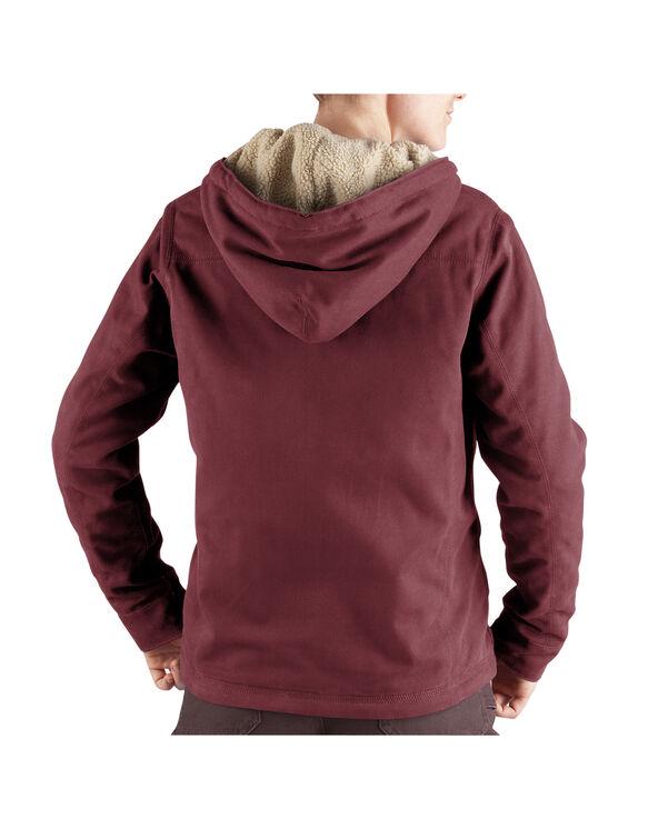 Women's Sanded Duck Hooded Jacket - OXBLOOD (OX)