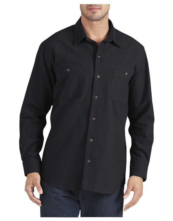 Long Sleeve Chamois Shirt - BLACK (BK)