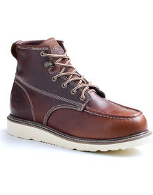 Men's Trader Work Boots - BURGUNDY (FBU)