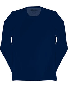 Men's Performance Long Sleeve Crew Neck Scrub Tee - NAVY (NVY)
