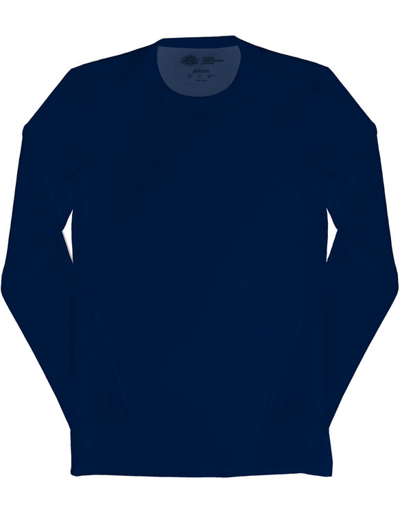 Men's Performance Long Sleeve Crew Neck Scrub Tee - NAVY-LICENSEE (NVY)