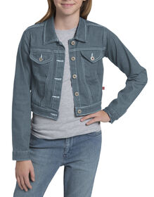 Girls' Denim Jacket, 8-20 - BLEACH STONEWASH (BST)