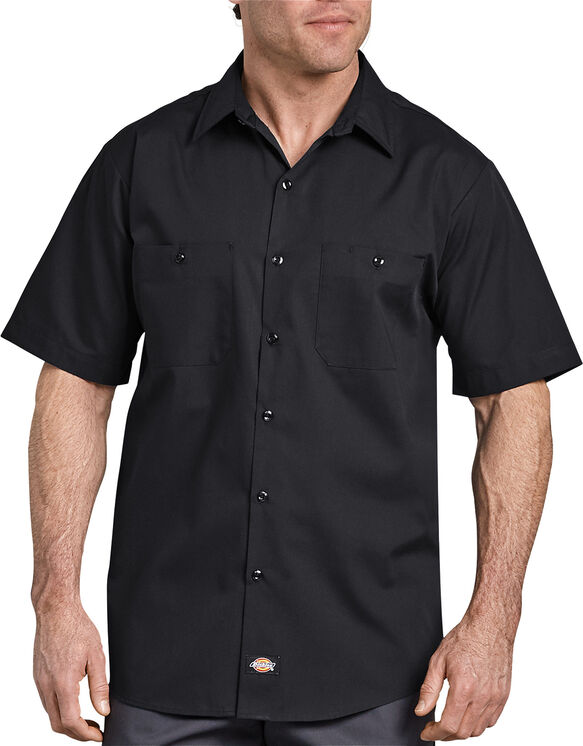 Industrial WorkTech Short Sleeve Ventilated Performance Shirt - BLACK (BK)