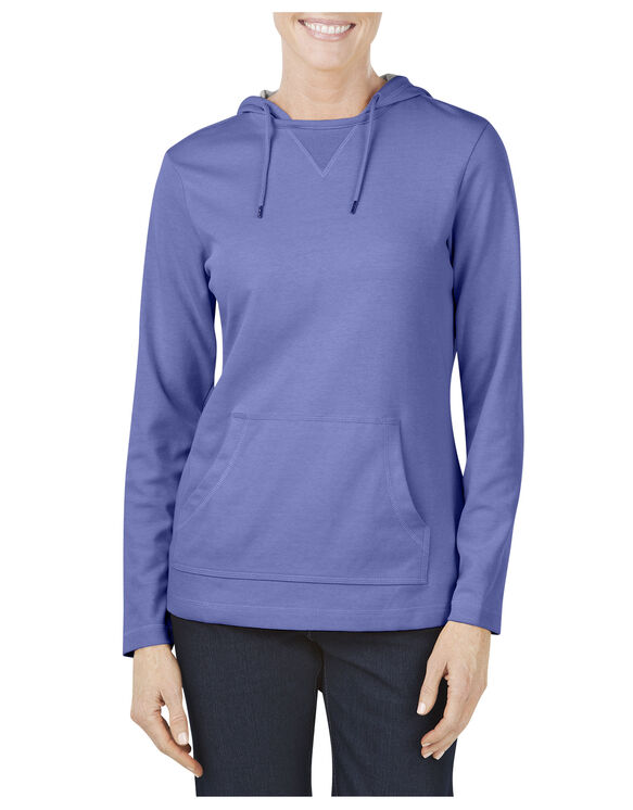Women's Plaited Jersey Pullover Hoodie - ELECTRIC VIOLET (EI)