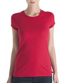 Dickies Girl Juniors Short Sleeve Crew Neck Tee - RED (RD)