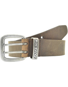 Leather Belt with Double Prong Buckle - BROWN (BR)