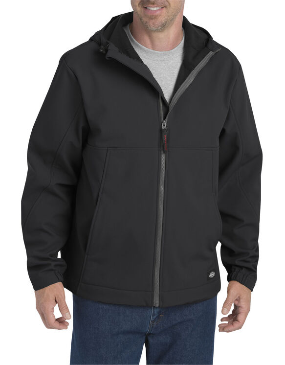 Performance Flex Softshell Jacket with Hood - BLACK (BK)