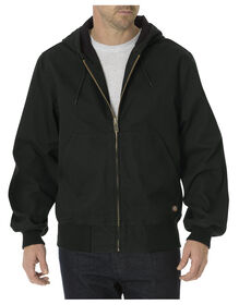 Sanded Duck Thermal Lined Hooded Jacket - RINSED BLACK (RBK)