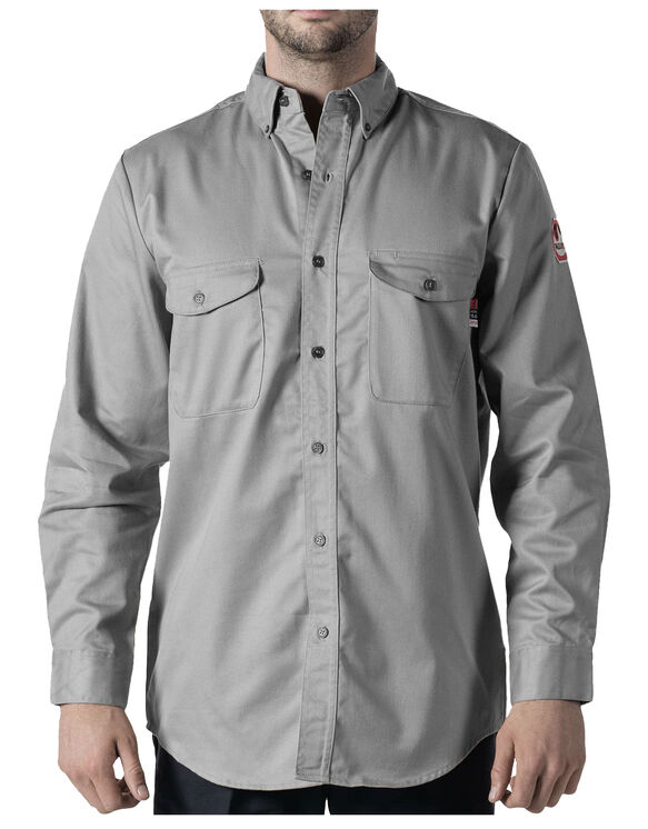 Walls® Flame Resistant Button-Down Work Shirt - GRAY (GY9)