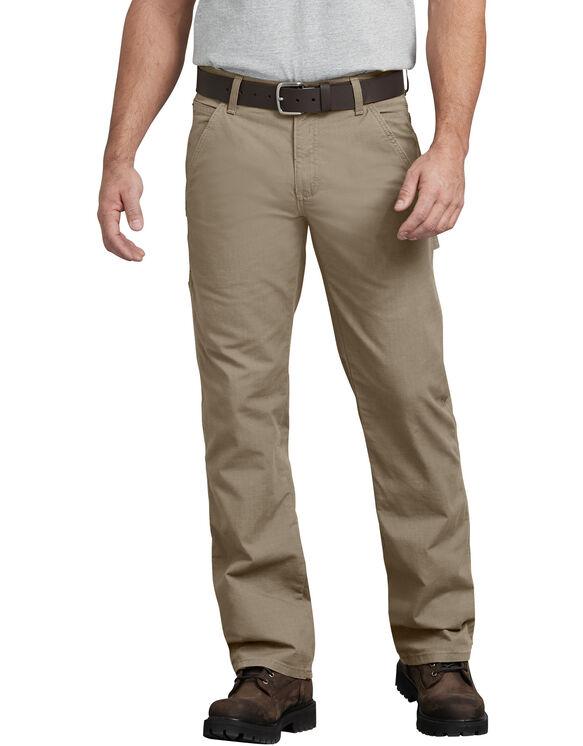 FLEX Regular Fit Straight Leg Tough Max™ Ripstop Carpenter Pant - RINSED DESERT SAND (RDS)