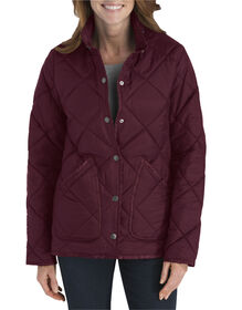 Diamond Quilted Nylon Jacket - BURGUNDY (BY)