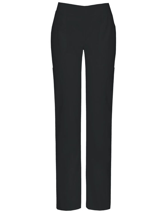 Women's EDS Signature Mid-Rise Moderate Flare Leg Pull-on Scrub Pant with Certainty® - BLACK (BLK)