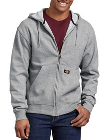 Midweight Fleece Full Zip Hoodie - HEATHER GRAY (HG)