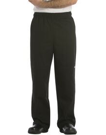 Unisex Double Knee Baggy Chef Pant - BLACK (BLK)