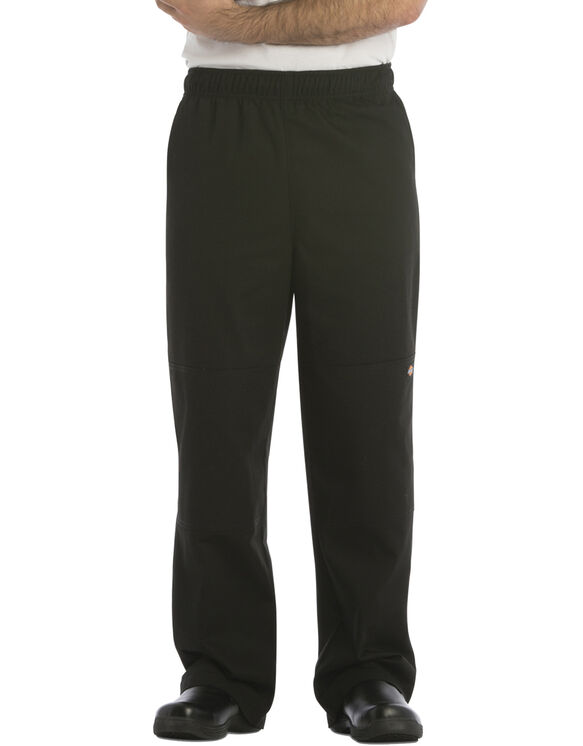 Unisex Double Knee Baggy Chef Pant - BLACK-LICENSEE (BLK)