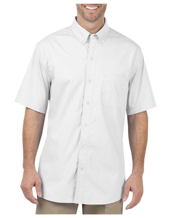 Short Sleeve Poplin Performance Shirt - WHITE (WH)