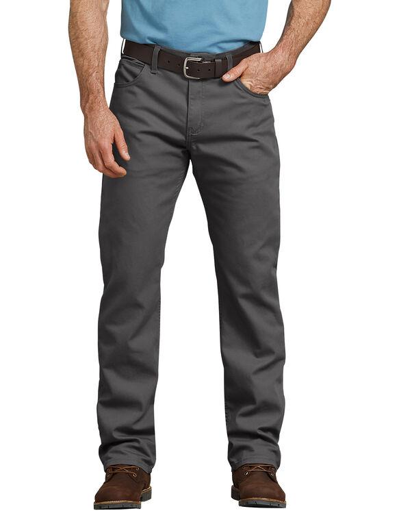 FLEX Regular Fit Straight Leg Tough Max™ Duck 5-Pocket Pant - STONEWASH SLATE (SSL)