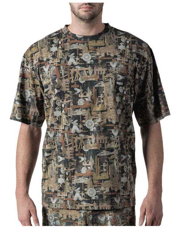 Walls® Oilfield Camo Short Sleeve Pocket Tee - OIL FIELD (OF9)