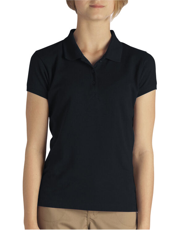 Girls' Short Sleeve Pique Polo Shirt