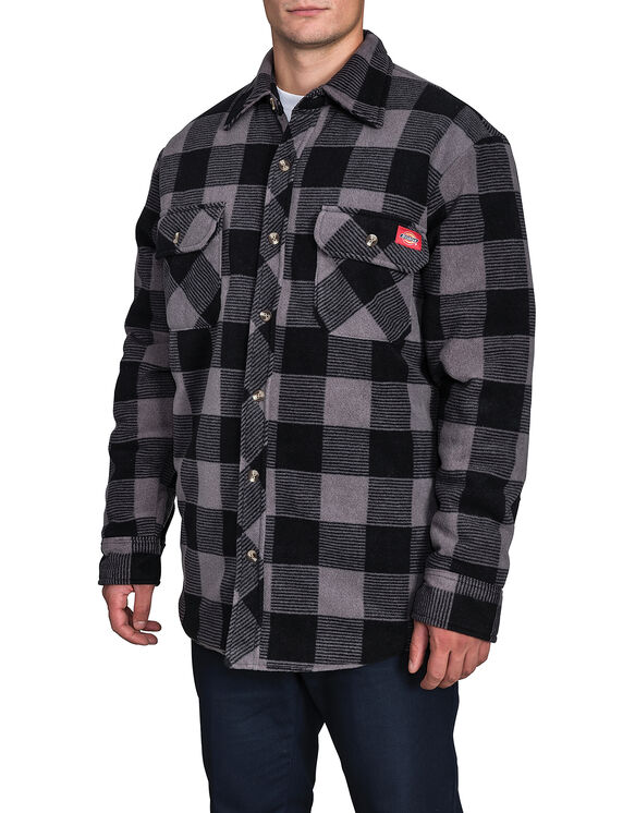 Polar Fleece Jacket - CHARCOAL PLAID CANADA (C45)