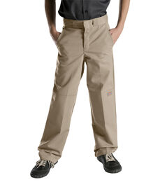 Boys' Relaxed Fit Straight Leg FlexWaist® Double Knee Pant, 8-20 Husky - DESERT SAND (DS)