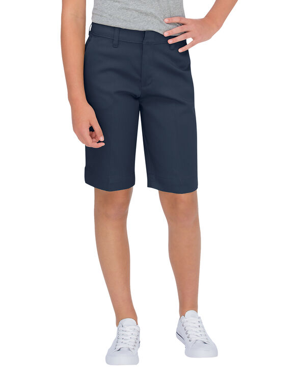 Girls' Classic Fit Bermuda Stretch Twill Short, 7-20 - DARK NAVY (DN)