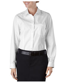 Women's Long Sleeve Service Shirt - WHITE (WH)