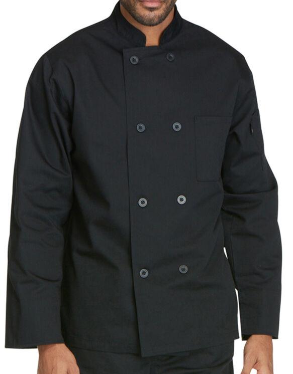 Unisex Classic 8 Button Chef Coat - BLACK (BLK)