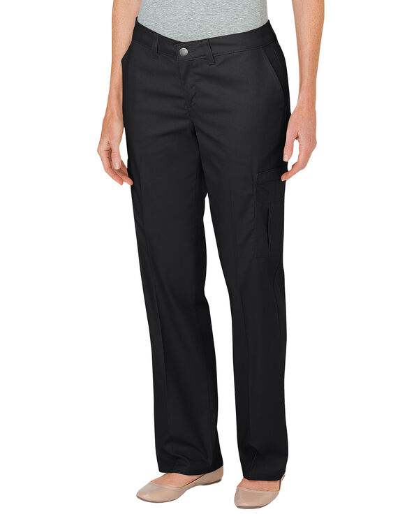 Women's Premium Relaxed Straight Cargo Pant - BLACK (BK)