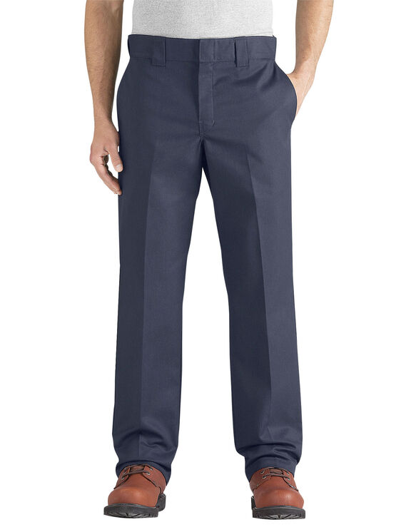 Flex Slim Fit Straight Leg Twill Work Pant - DARK NAVY (DN)