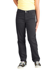 Girls' Skinny Fit Straight Leg 5-Pocket Stretch Twill Pant, 4-6x - BLACK (BK)