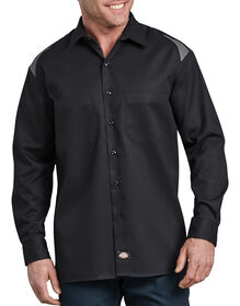 Long Sleeve Performance Shop Shirt - BLACK/SMOKE (BKSM)